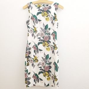 H&M Floral Cutout Back Sheath Dress w/ Beading D33